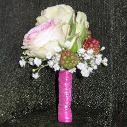 Anstecker Rose weiß - Hochzeit