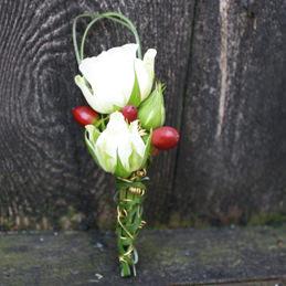 Anstecker Rose weiß - Hochzeit - Blumen Eder