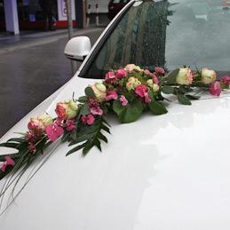 Autoschmuck rosa/weiß - Auto - Hochzeit - Blumen Eder