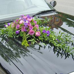 Autoschmuck - Rosengesteck flieder/rosa - Auto - Hochzeit