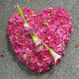 Blumenherz - pink - Hochzeitsfloristik - Blumen Eder Rosenheim