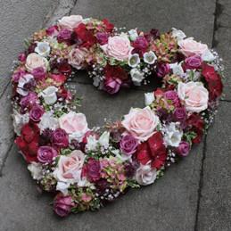Blumenherz mit Rosen - pastellfarben - Hochzeit