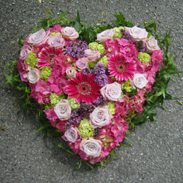 Blumenherz Hochzeit kompakt gefüllt - Blumenmischung - Blumen Eder