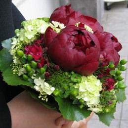 Brautstrauß rot/grün - Blumen Eder