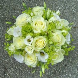 Hochzeitsstrauß - Rosenstrauß weiß - Blumenhaus Eder