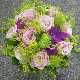 Hochzeitsstrauß - Rosenstrauß rose/violett - Blumen Eder
