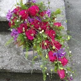 Brautstrauß Hochzeit mit roten Rosen - Blumen Eder