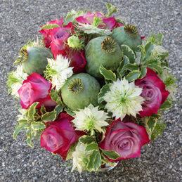 Hochzeitsstrauß / Brautstrauß grün/rosa herbstlich - Blumen Eder