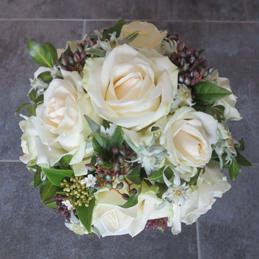 Hochzeitsstrauß - Rosenstrauß weiß