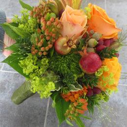 Brautstrauß orangefarben - Hochzeitsstrauß - Blumen Eder