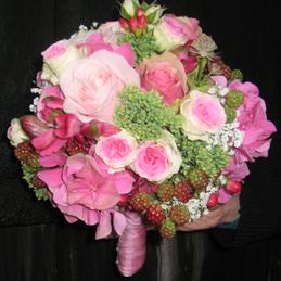 Hochzeitsstrauß rosarot - Blumen Eder