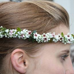 Haarkranz Hochzeit filigran - weiß - Blumen Eder