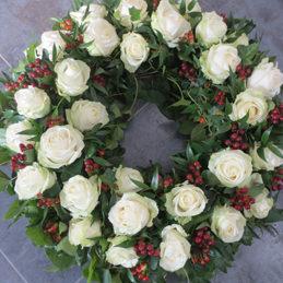 Trauerkranz herbstlich - Trauerfloristik - Blumen Eder Rosenheim