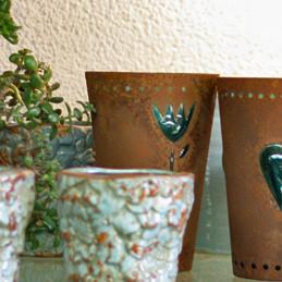 Rostige Gefäße für Blumen - Blumen Eder Rosenheim, Stephanskirchen