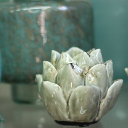 Keramikblüte für Teelicht - Blumen Eder Rosenheim, Stephanskirchen